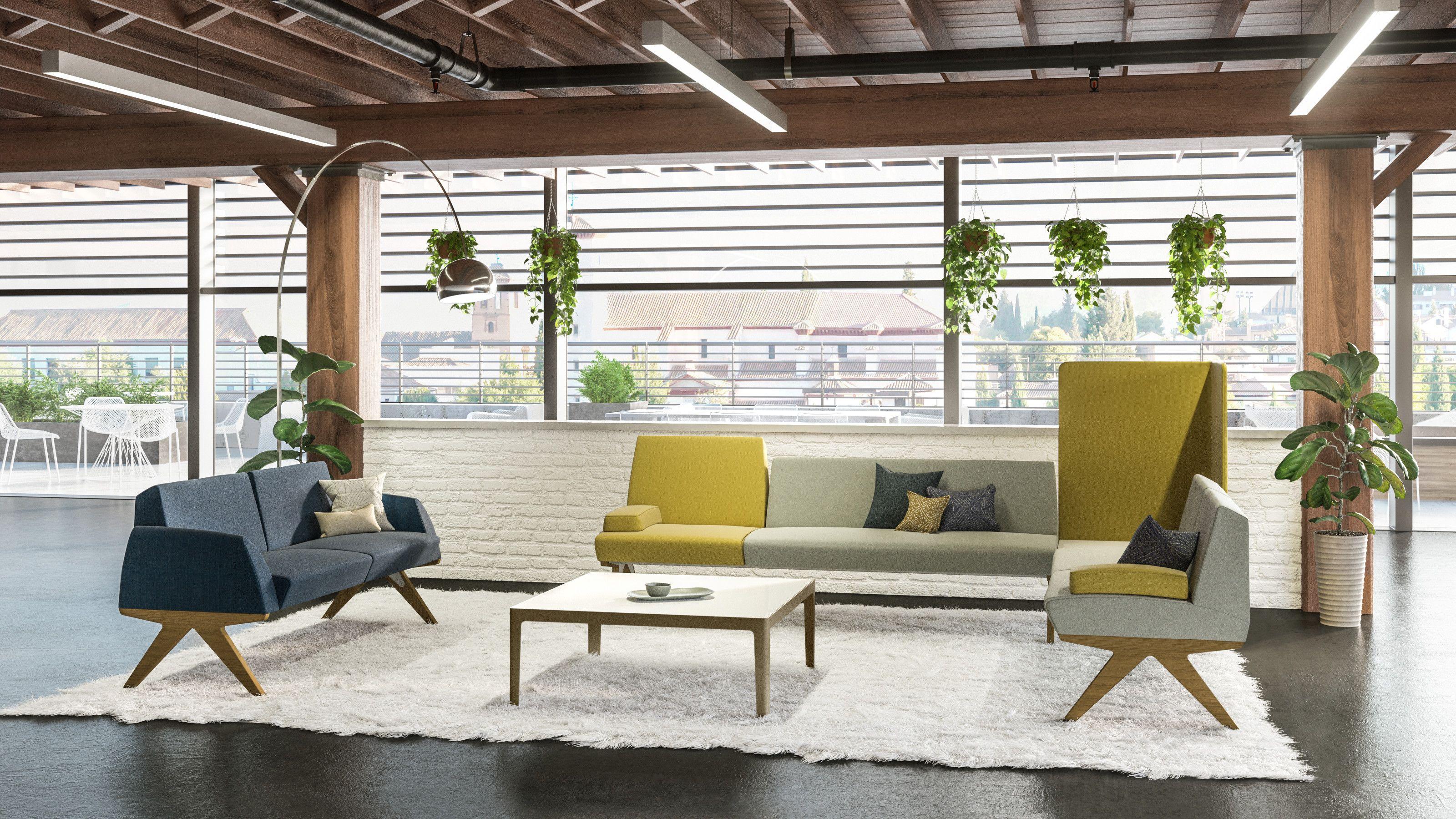 Mn K Contemporary Amp Modular Office Sofa