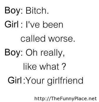 Funny boy girl conversation