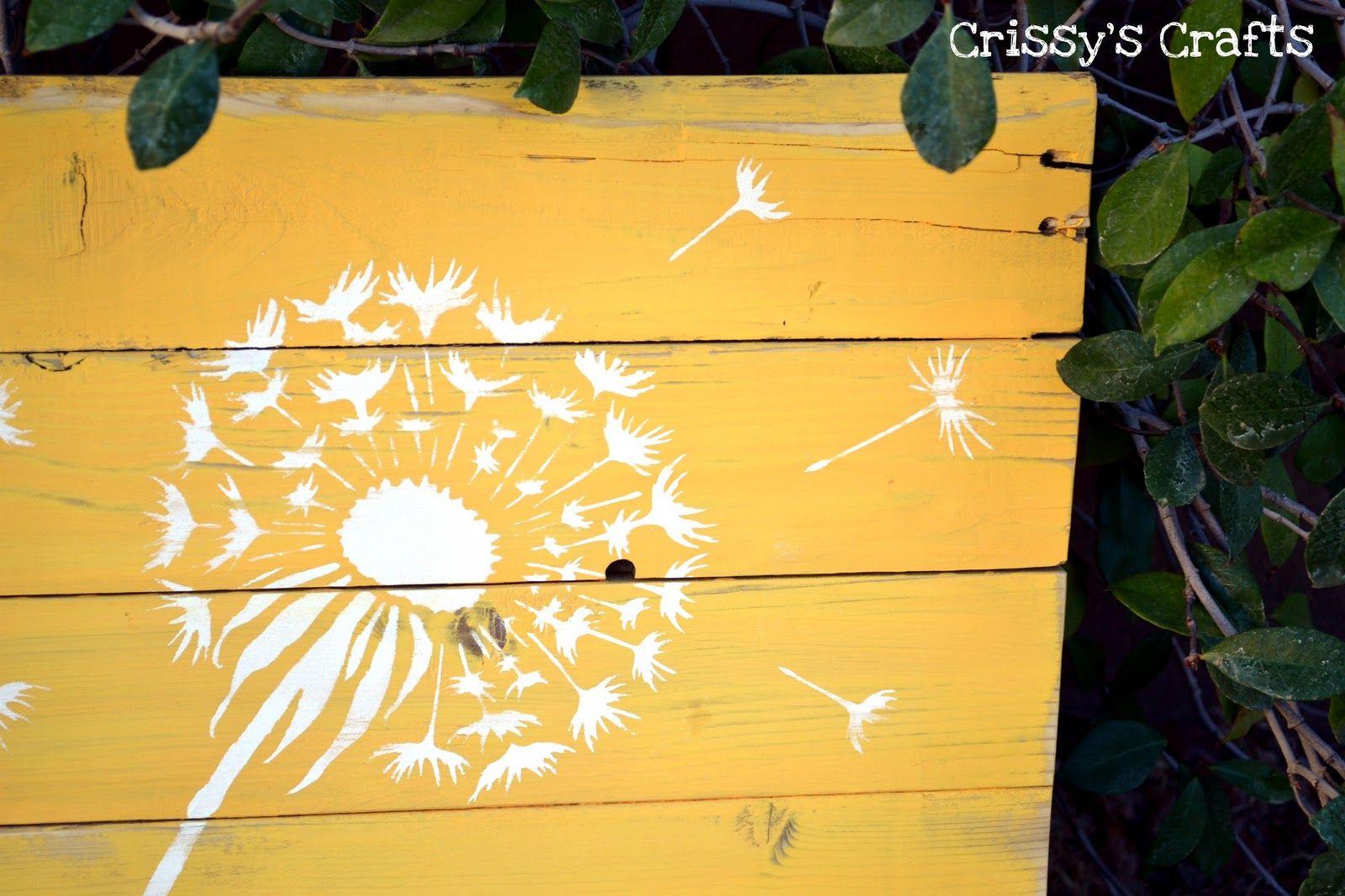 Pallet Projects Wall Art | Pallet Dandelions Wall Decor | grandkids ...