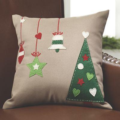 Cojines navideños y manualidades navidad Pinterest Cojines