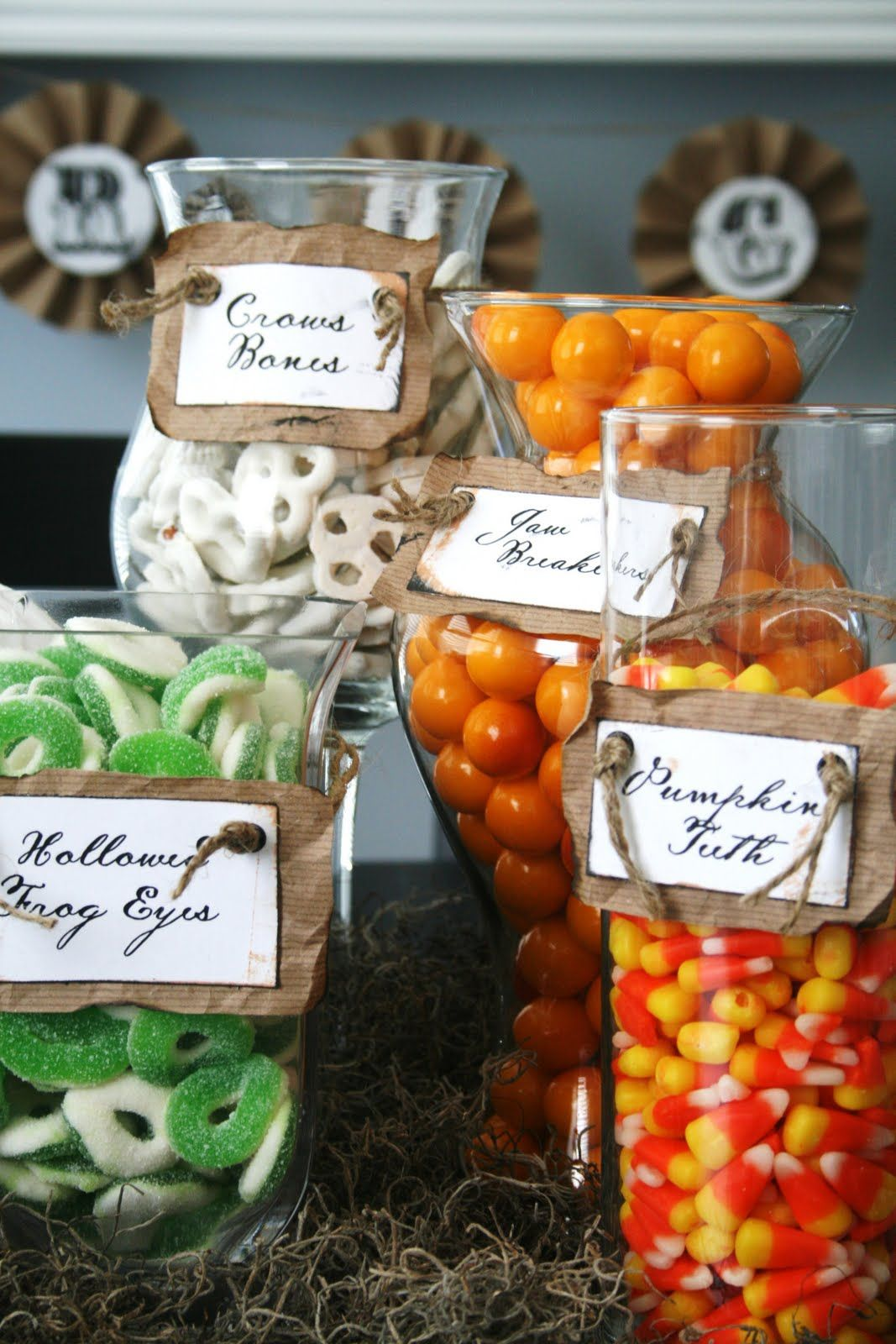 like the rustic candy tags