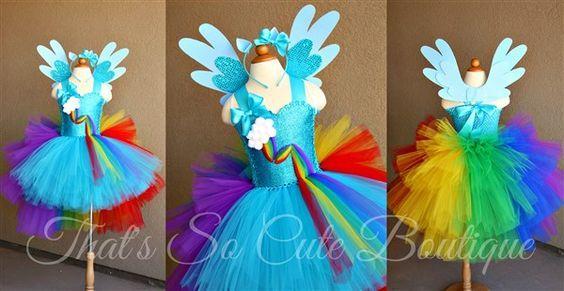 2cde1f07b7cb Rainbow Pony Dash Tutu Dress-rainbow, my little pony, horse, unicorn,  birthday, turquoise, tutu dress, tutu, party, fun, bright