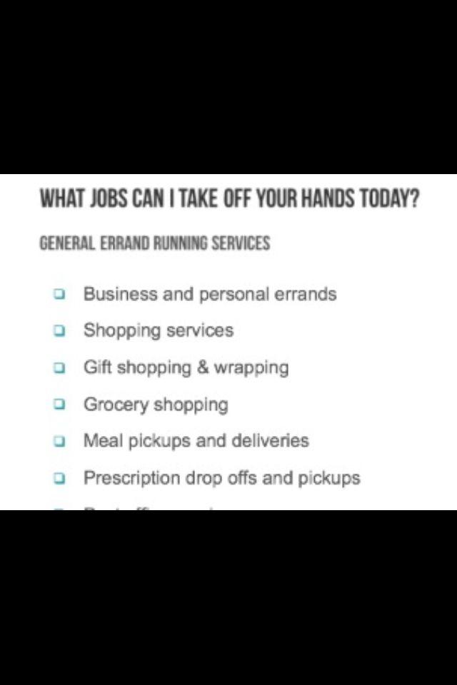 errand service business plan