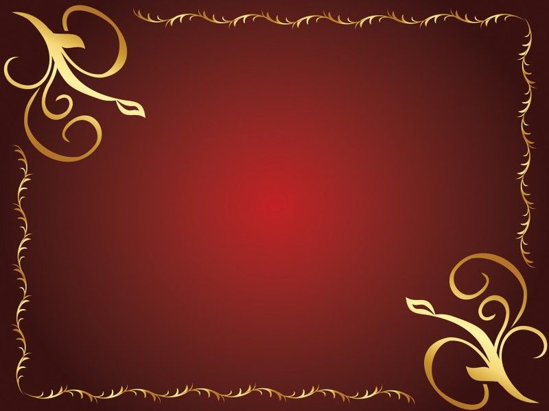 golden flower design powerpoint templates border frames free