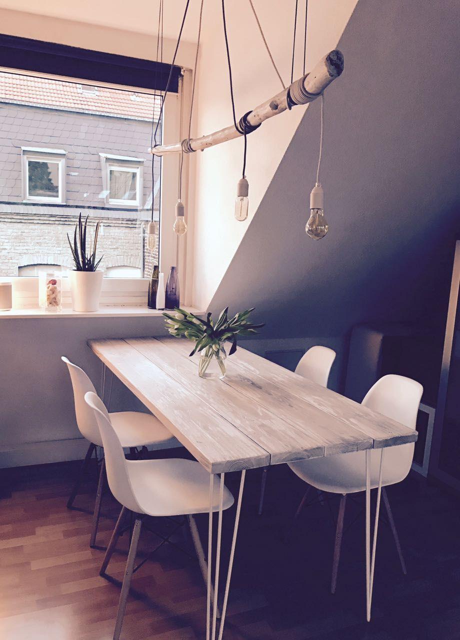 DIY Tisch Holz selbst gebaut