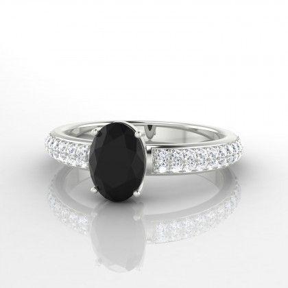maty bague diamant noir et blanc