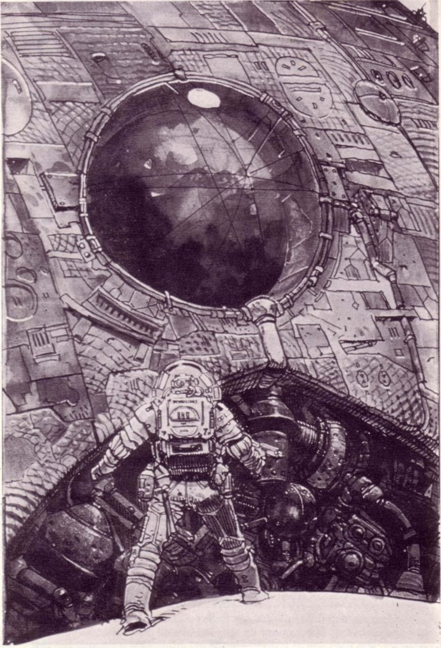 Concept art for Ridley Scott's Alien by Moebius. Description from pinterest.com. I searched for this on bing.com/images