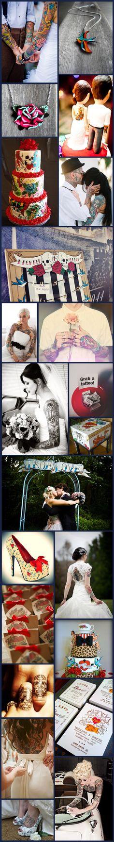 Wednesday Wedding Inspiration: Tattoo & Ink