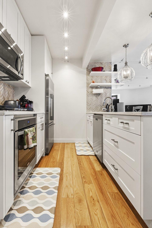 Small Kitchen Ideas   small white galley kitchen   Budget kitchen ...