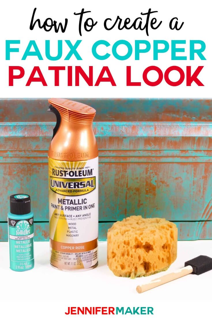 Faux Copper Patina Paint The Easy Way Jennifer Maker Patina Paint Copper Patina Diy Copper Patina