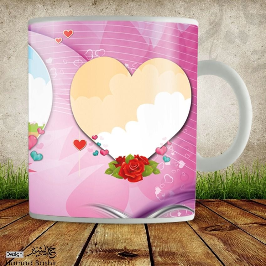 mug design template psd 042 صور مجات عيد ميلاد وعيد الحب mug designs design template flower background wallpaper mug design template psd 042 صور مجات