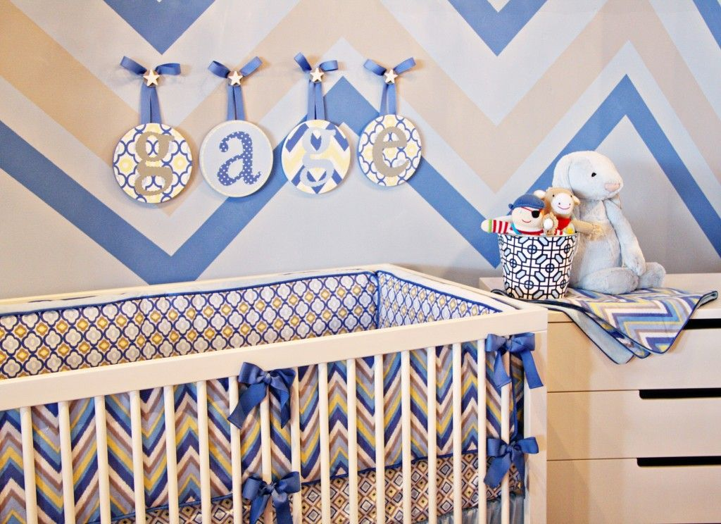 Chevron Boy Nursery At Couture