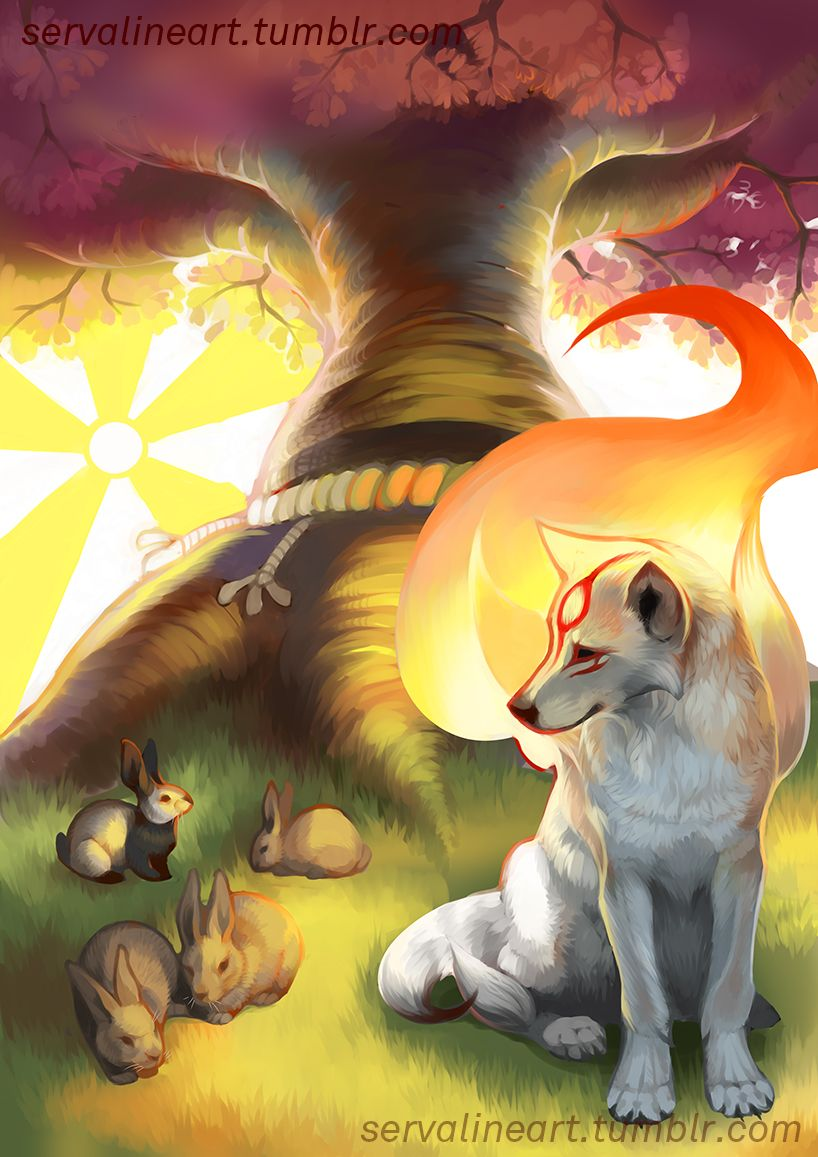 So Pretty Love The Flames Amaterasu Okami Game Art
