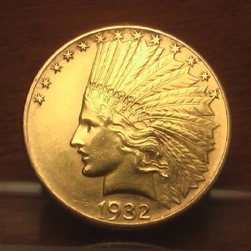 Beautiful 1932 Gold 10 Indian Head Eagle Coin Bu Eagle Coin Coins Gold And Silver Coins