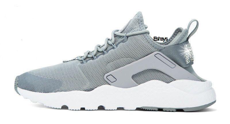 1471758a57b0 Glitter Crystal Nike Air Huarache Run Ultra Light Gray White-Women