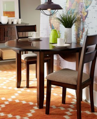 Branton Drop Leaf Round Dining Room Furniture Collection Created