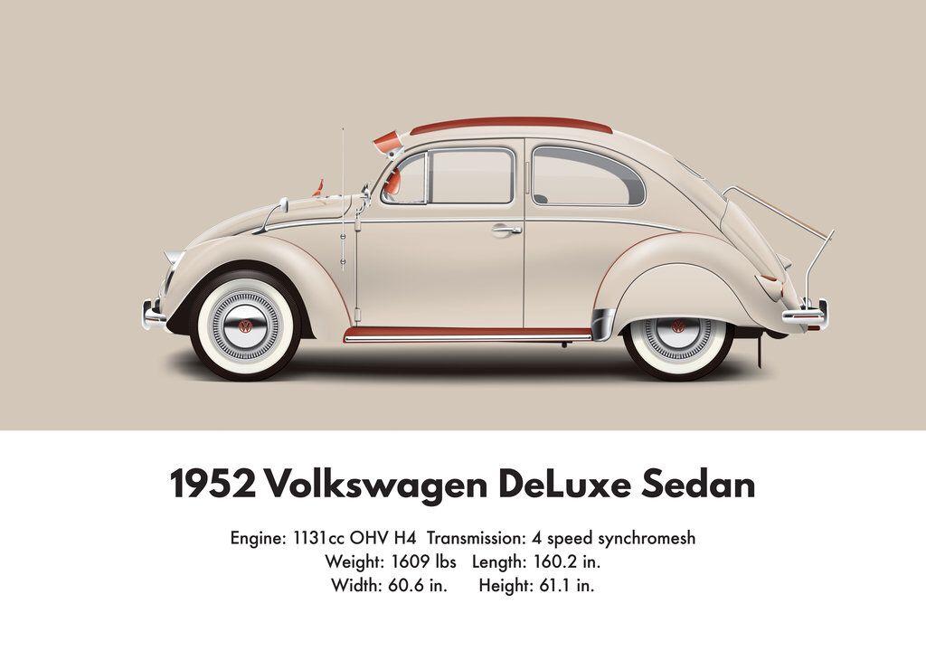 1952 Vw Beetle Split Window Specifications Vw Beetles Volkswagen Volkswagen Beetle