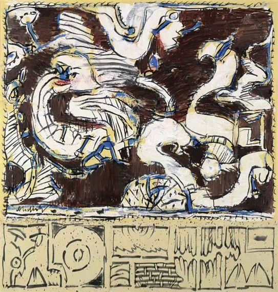 Pierre Alechinsky, Le blanc volatil, 2002