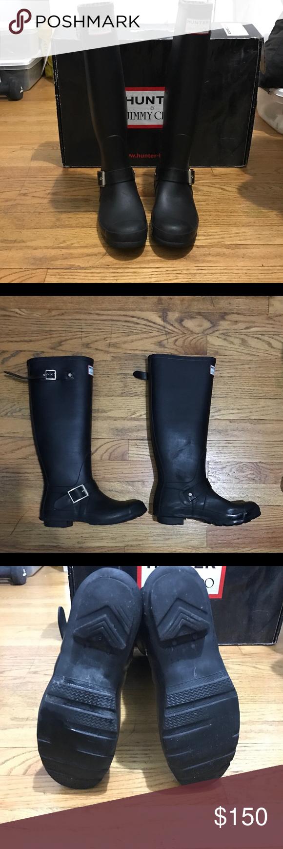 9cf3144373b Authentic Jimmy Choo x Hunter Boots Beautiful Jimmy Choo x Hunter rainboots  in black. Worn