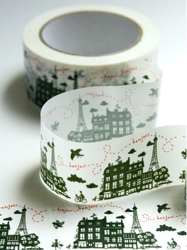 Un Dimanche à Paris Ribbon Tape Would be beautiful on www.claradeparis.com 's packaging!