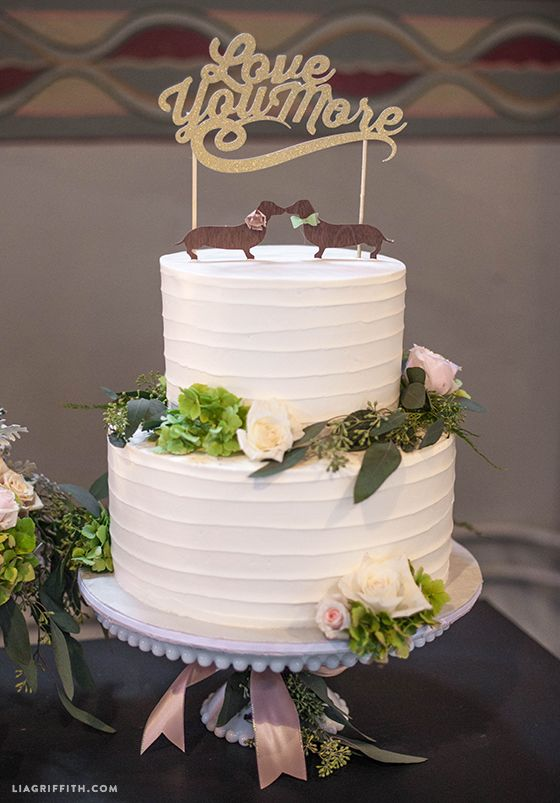 Sparkly DIY cake toppers for wedding or birthdays | Pinterest ...
