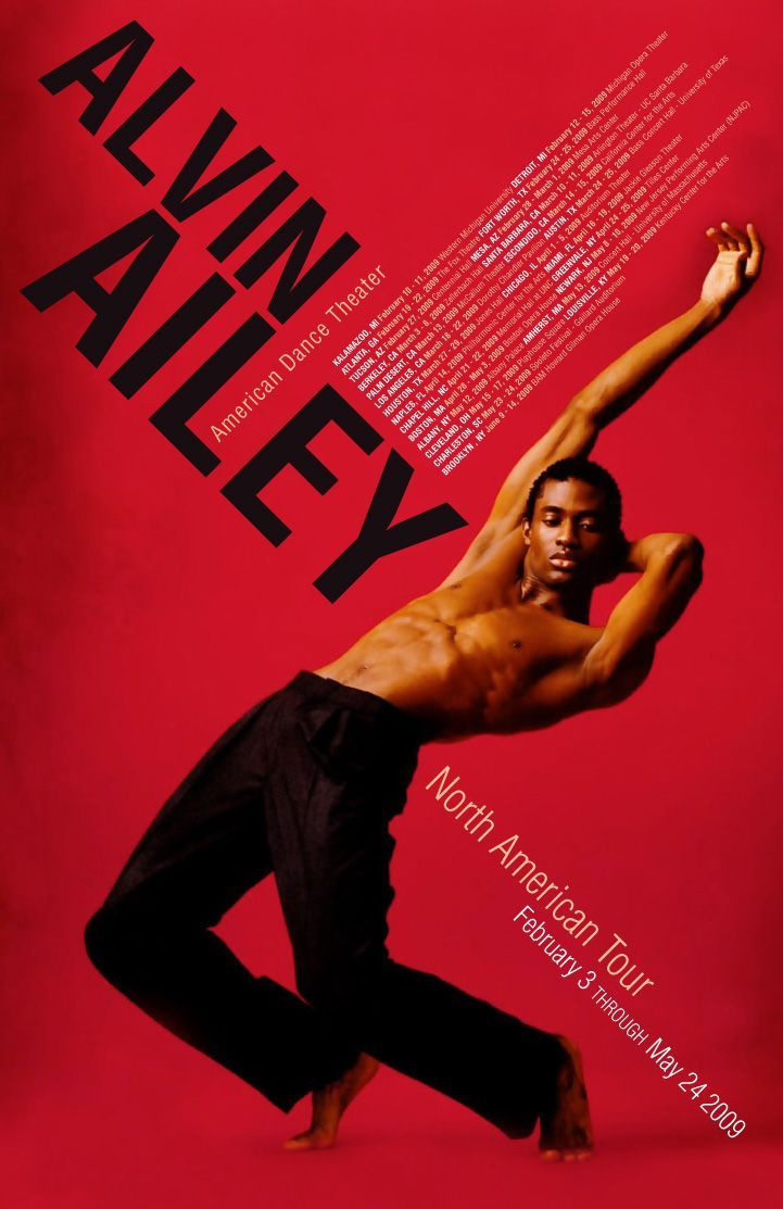 Dance Poster Alvin Ailey Graphic Design Poster