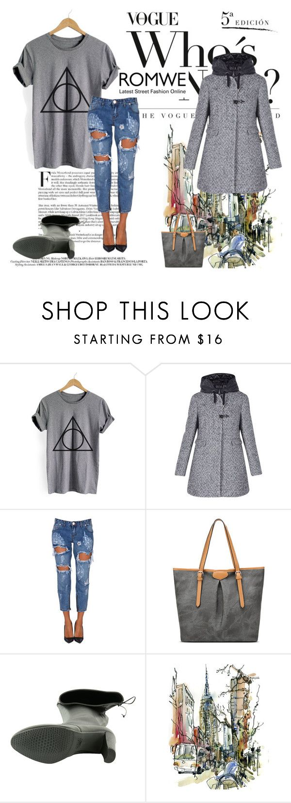 """Romwe"" by sebium ❤ liked on Polyvore featuring OneTeaspoon and Stuart Weitzman"