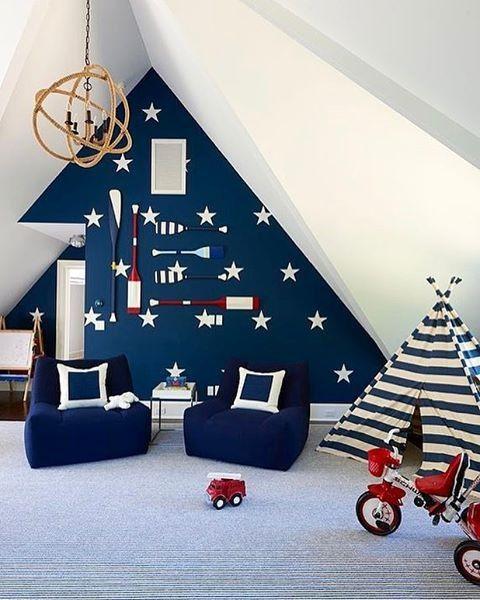 Room · Go Bold Or Go Home! Nautical Themed Playroom Perfection️Via ...