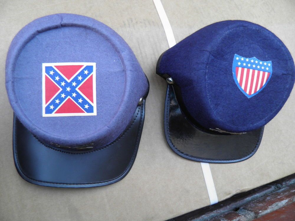 52ffc0b06cf VINTAGE CHILD S FELT CIVIL WAR CONFEDERATE   UNION ARMY HATS CAPS in  Clothing