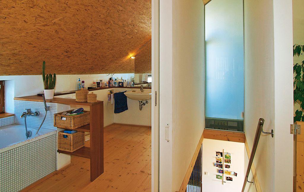Mini-Budget Bauplatz in Schräglage - Neubau - Hausideen, so wollen - schiebetüren für badezimmer