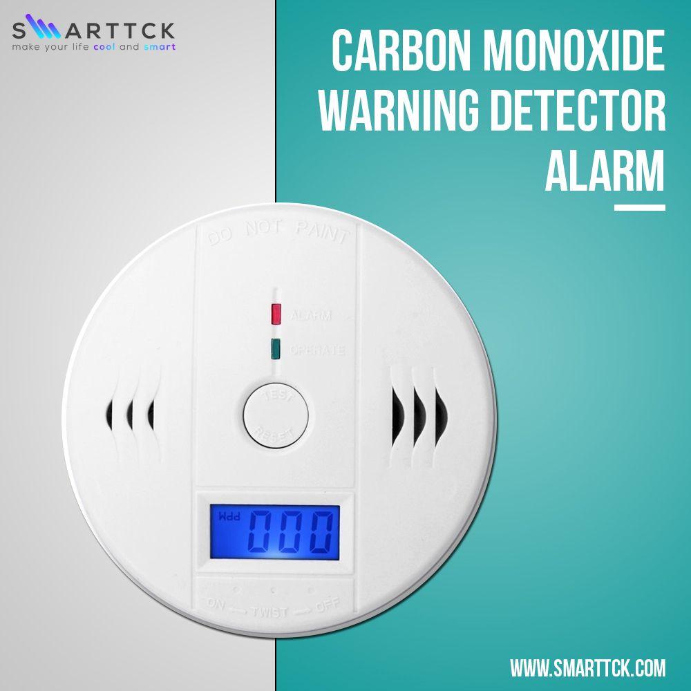 Kitchen Bedroom Carbon Monoxide Warning Detector Alarm Green Led