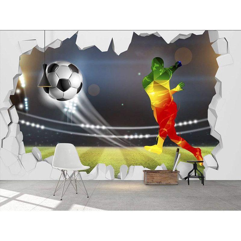 3d Large Soccer Ball Design Wallpaper For Walls Wall Mural Soccer Room Kid Room Decor Soccer Bedroom