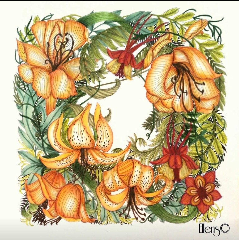 Pin von Ruth O\'Hara auf Floribunda | Pinterest | Malvorlagen für ...