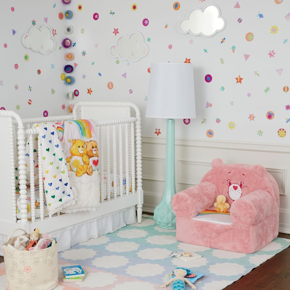 Care Bears Crib Bedding The Land Of Nod I Had A Bear Nursery As Baby If Ever This Would Be Her Love It