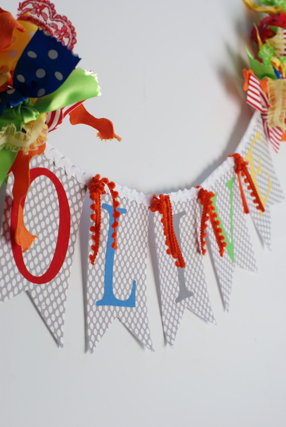 Gender Neutral RAINBOW Baby Name Banner for by ...