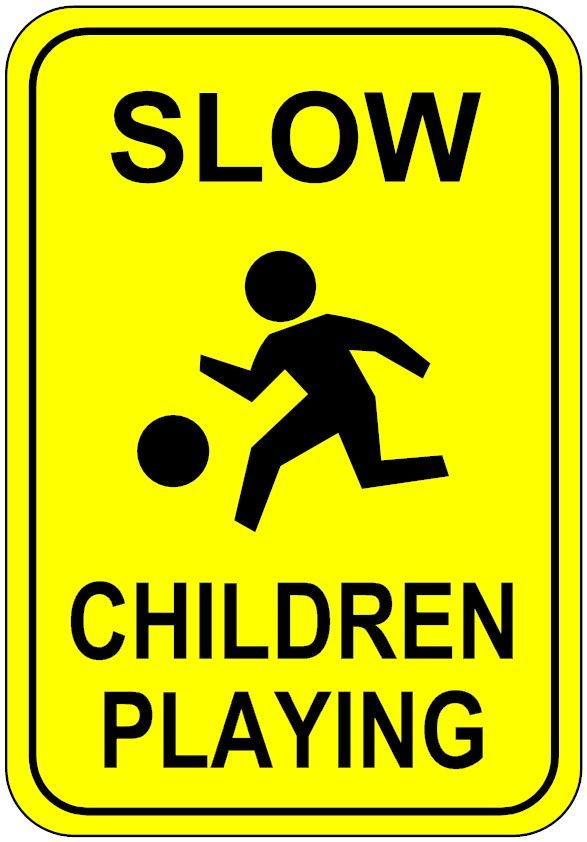 dce75dd191dd5 children at play sign - Google Search | Kids at play safety cones ...