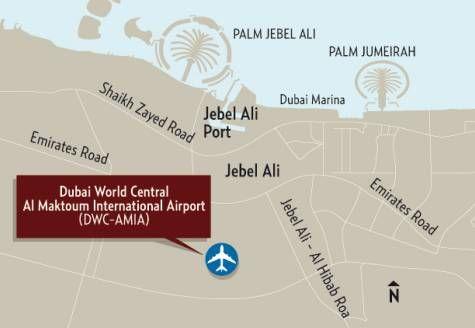Dubai world central al maktoum airport dubai pinterest location map dubai world central al maktoum airport gumiabroncs Image collections