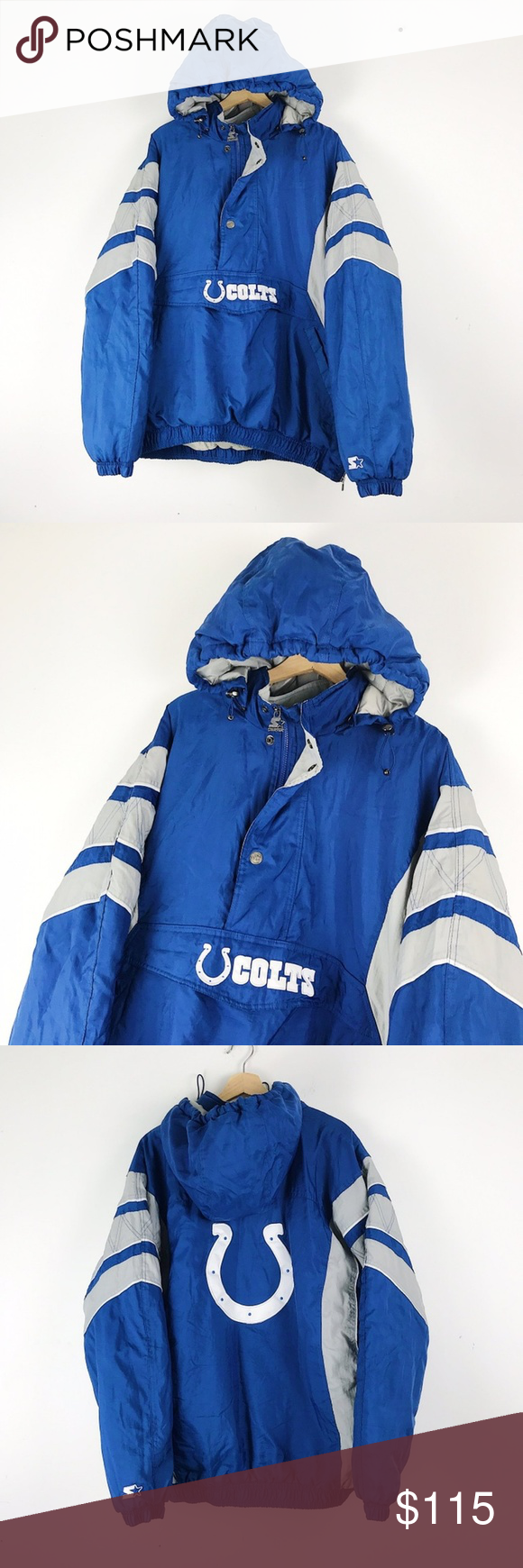 Indianapolis Colts Nfl Football Starter Jacket Xxl 90s Vintage Indianapolis Colts Nfl Pullover Puffy Starter Jacket Lots Nfl Football Indianapolis Colts Nfl