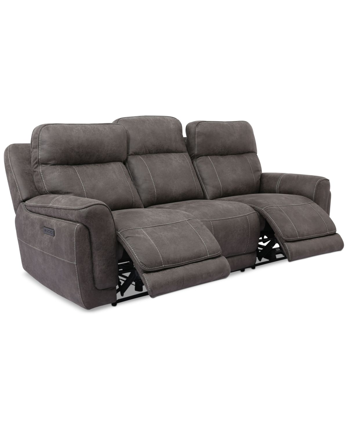 Bryer 91 Fabric Dual Power Sofa Northwest Stucco Tan