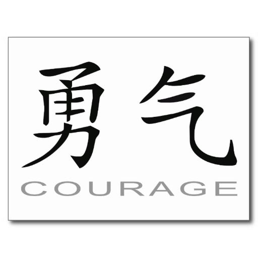 Chinese Symbol For Courage Postcard Chinese Symbols Symbols And