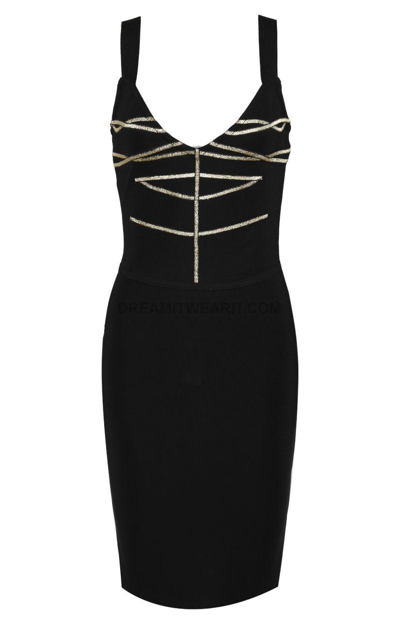 Gold Trim Dress Black With Images Black Dress Dresses Little Black Dress