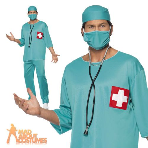 Adult surgeon costume scrubs #doctor hospital uniform mens #fancy #dress new,  View more on the LINK: 	http://www.zeppy.io/product/gb/2/151332372681/