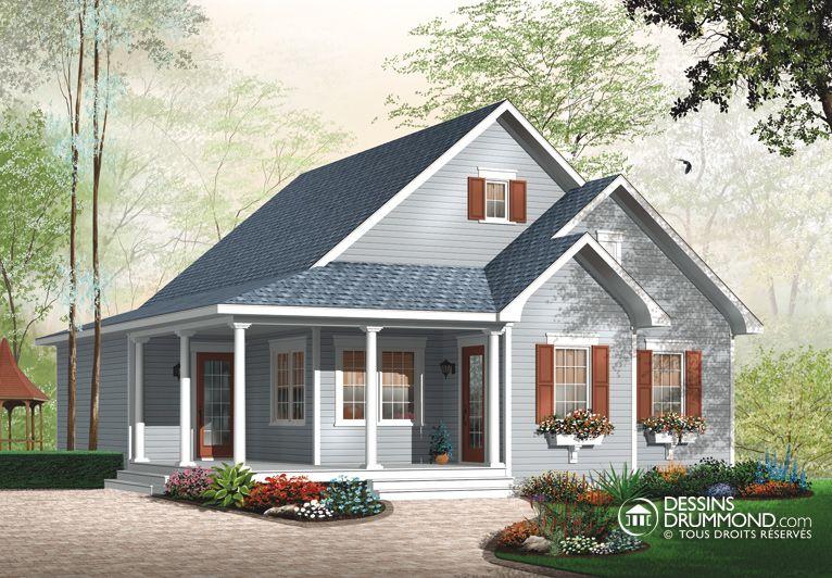 Classique champ tre w3108 maison laprise maisons for Modele maison champetre
