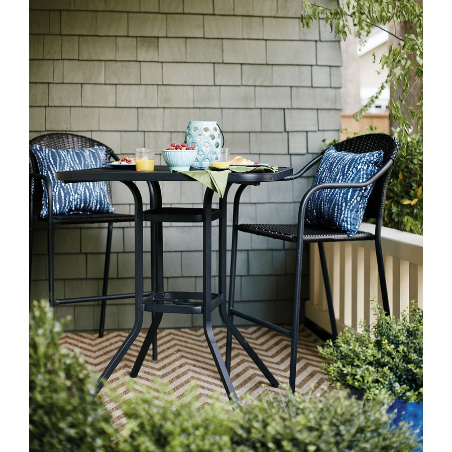 Marvelous Shop Garden Treasures Pelham Bay Steel Barstool Chair At Lamtechconsult Wood Chair Design Ideas Lamtechconsultcom