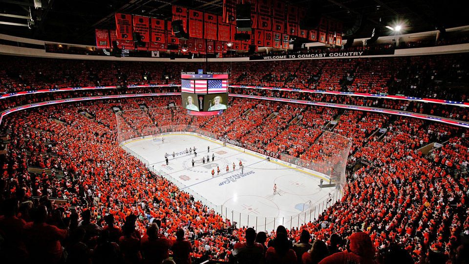 wells fargo center orange crush puck pinterest flyers hockey