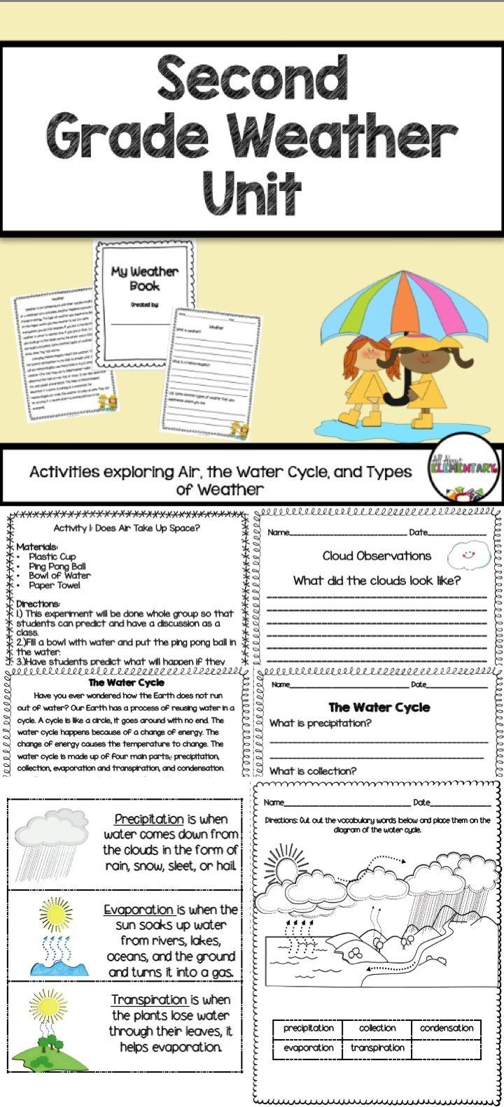 Weather Activities for Second Grade Weather activities