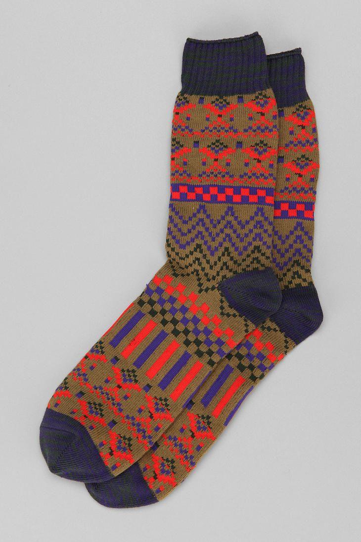 Fair Isle Camp Sock