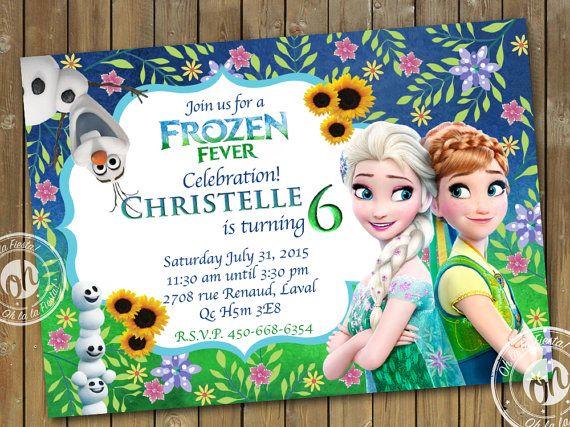Frozen Fever Invitation Birthday Party, Frozen Birthday Party - invitation birthday frozen