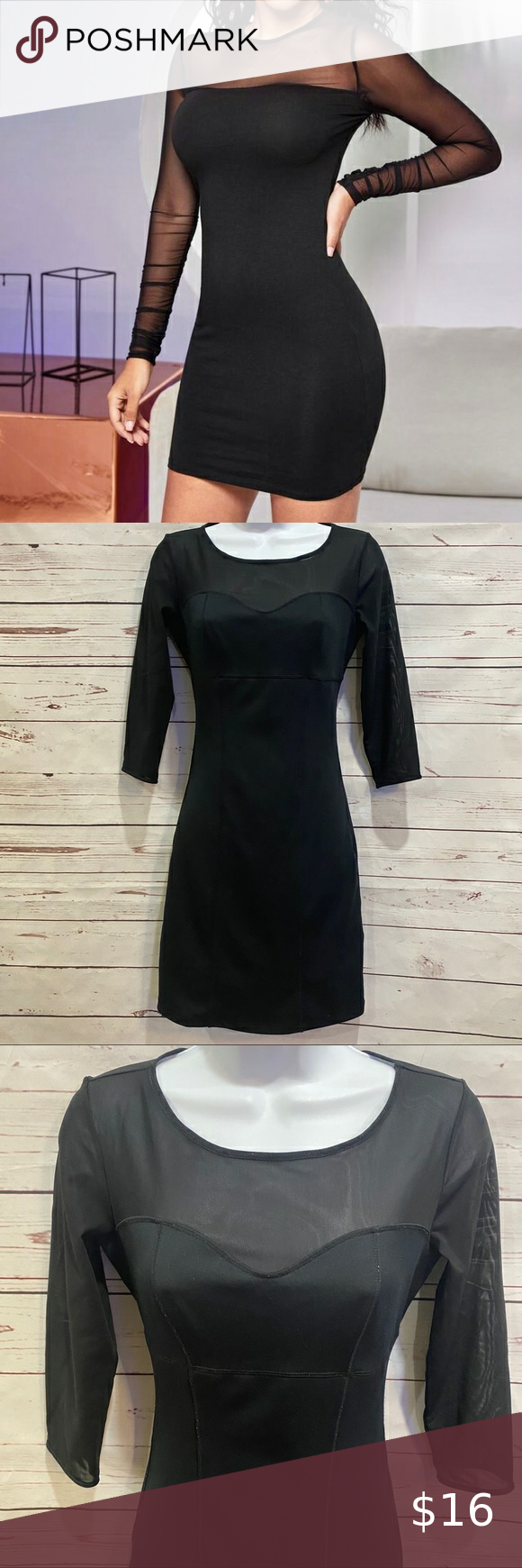 Shape Stational Black Sheer Top Fitted Dress Black Sheer Top Sheer Top Fitted Dress [ 1740 x 580 Pixel ]