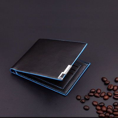 Men Stylish Bifold Business Work Leather Wallet Card Holder Coin Wallet Purse